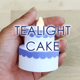 Tealight Cake Template