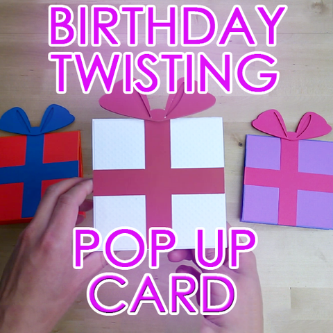 Birthday Twist Pop Up Greeting Card Template