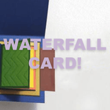 Water Fall Card Template