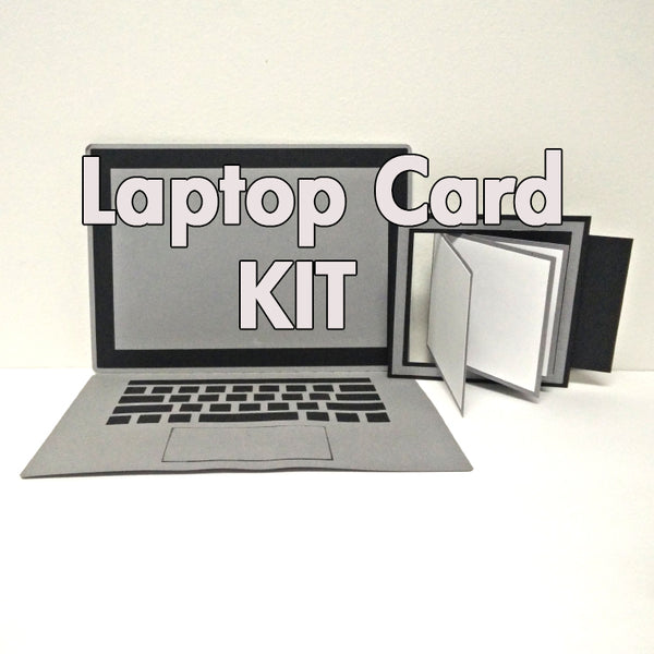 Card Kit: Laptop and Waterfall