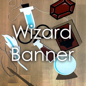 Wizard Party Theme Banner Template