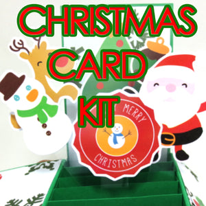 Pop-up Card Kit: Christmas Gathering Themed