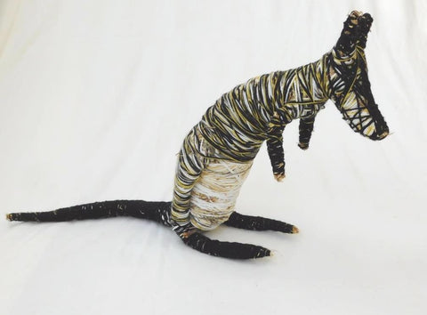 Caroline Hawkins artist Swamp Wallaby Bush Toy, Surf Coast Arts Trail