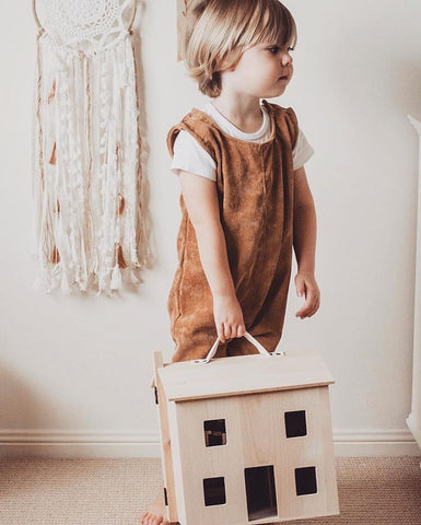 Holdie House by Ollie Ella, imaginative play dolls house, available at Torquay Toys