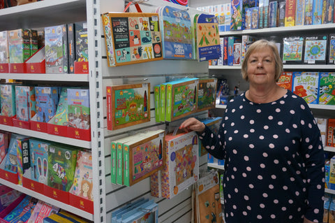 Owner of Torquay Toys, Jill Randall, in her Surf Coast children's toy shop