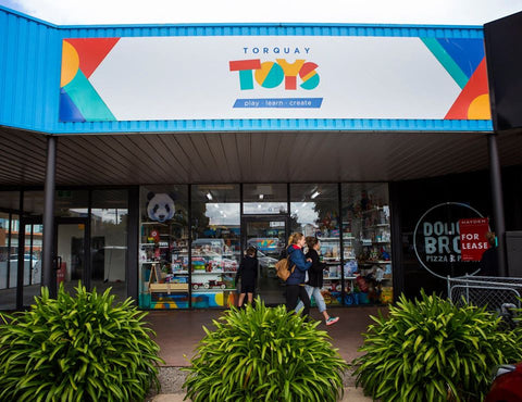 Torquay Toys in Gilbert St Torquay Victoria Australia. Photo by Little Black Rabbit Photography