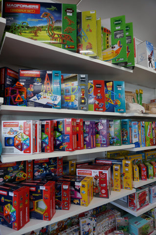 Magformers children's games at Torquay Toys toy shop on the Surf Coast, Victoria
