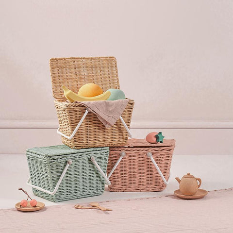 Olli Ella Piki Basket available at Torquay Toys, Victoria, kids picnic baskets