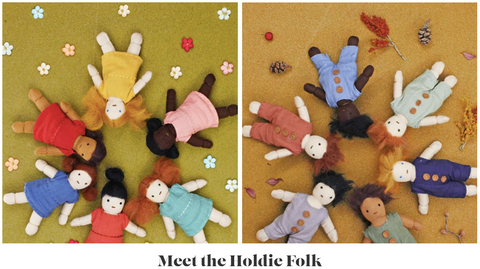 Meet the Holdie Folk dolls by Olli Ella, available at Torquay Toys