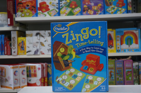 Zingo time telling game at Torquay Toys, children's learn to tell the time game