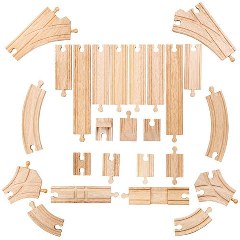 Bigjigs Rail Curves and Straights Expansion Pack wooden railway at Torquay Toys