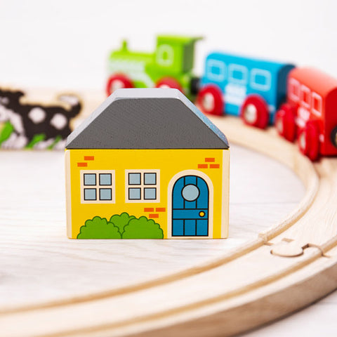 Bigjigs My First Train Set play pieces