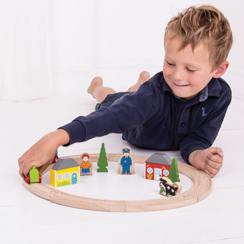 Bigjigs Rail My First Train Set wooden railway toys at Torquay Toys