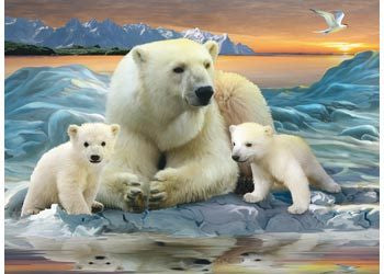 Rburg - Polar Bears Puzzle 200pc