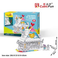 Colouring Puzzle, Toy House