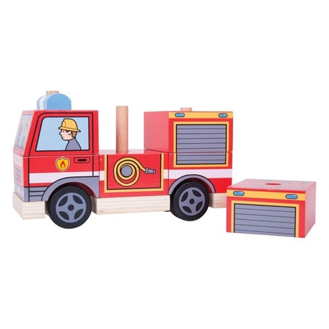 Bigjigs - Stacking Fire Engine