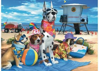 Puzzle No Dogs At The Beach 100Pce