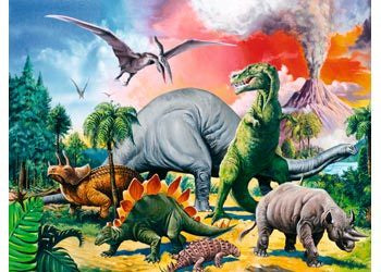 Among Dinosaurs 100Pc Puzzle