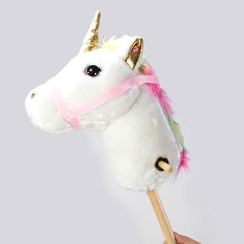 RockMe - Hopping Unicorn Horse with Wheels - Pink
