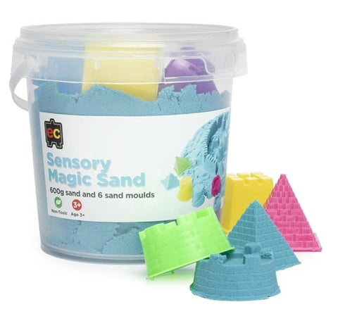 Sensory Magic Sand with Moulds 600g Blue