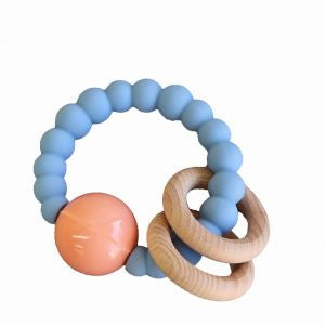 Jellystone Cloud Teether Soft Blue with Peach