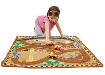 M&D - Construction Zone Play Rug & Vehicles