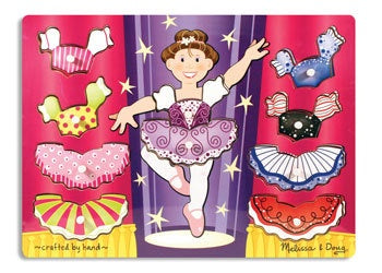 M & D Ballerina Dress-Up Peg Puzzle