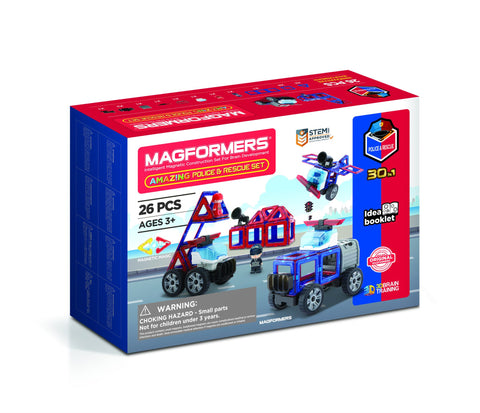 Magformers - Amazing Police & Rescue Set
