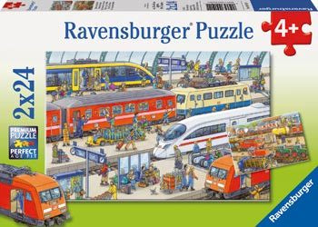 Rburg-Busy Train Station Puzzle 2 x 24pc