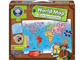 Orchard Toys - World Map Puz & Poster 150pc Jigsaw