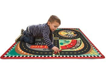 Speedway Race Track Play Rug & Vehicles