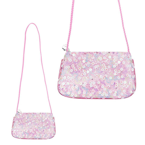 Bloom fairy sequin shoulder bag-pink