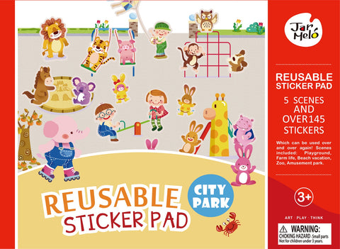 REUSABLE STICKER PAD SET - CITY PARK