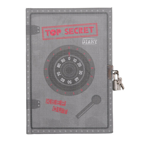 Tiger Tribe - Lockable Diary Top Secret