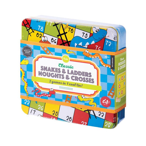 Classic Snakes & Ladders Plus in a Tin