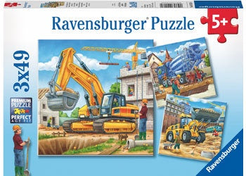 Rburg - Construction Vehicles 3x49 Puzzle