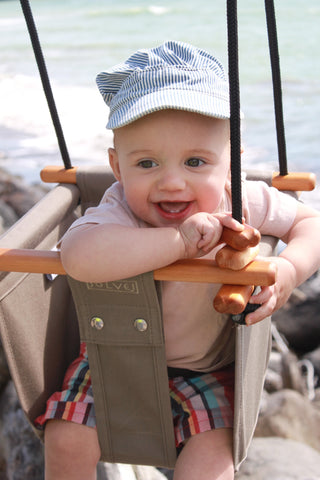 SOLVEJ Baby Toddler Swing Smokey