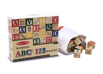Wooden ABC 123 Blocks