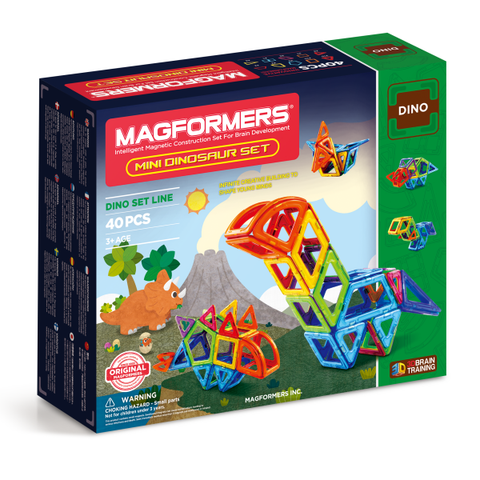 Magformers Mini Dinosaur Set 40 pc