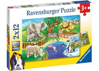 Animals in the Zoo Puzzle 2 x 12pc