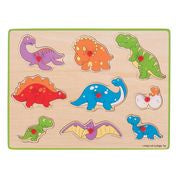 Bigjigs  Lift Out Puzzle - Dinosaurs