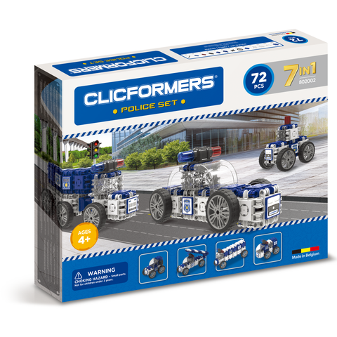 Magformers Clicformers Police Set 72 pc