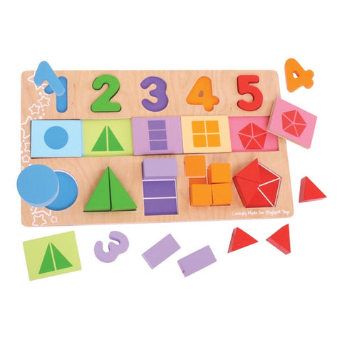 Bigjigs - Number and Colour Matching Puzzle