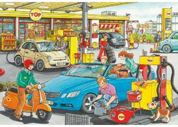 Rburg -At The Service Station Puzzle 2x24 Pc