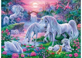 Rburg - Unicorns at Sunset 150 pc Puzzle