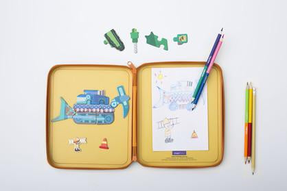 MierEdu Puzzle & Draw Magnetic Kit - Diggersaurs