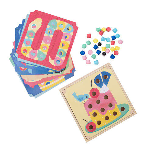 Tiger Tribe Button Puzzle - Animals