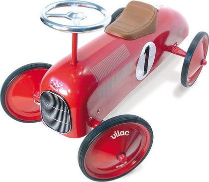 RED RIDE ON CLASSIC TOY CAR