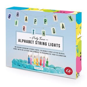 IS GIFT Colour-Changing Alphabet String Lights