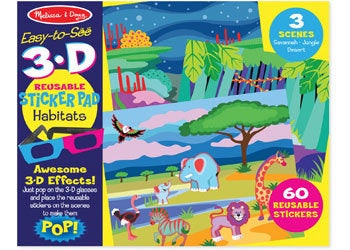 Easy to see 3D Reusable Sticker - Habitats